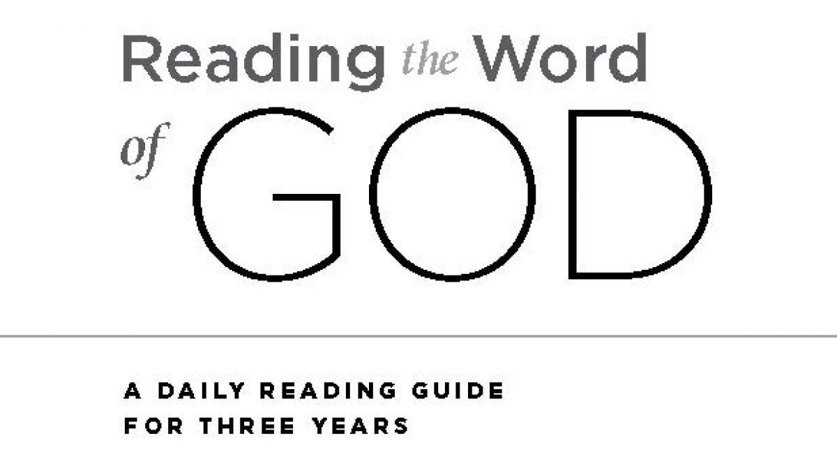 """2018 Bible Reading Plan. """""""